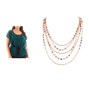 Flutter Sleeve Layer Necklace