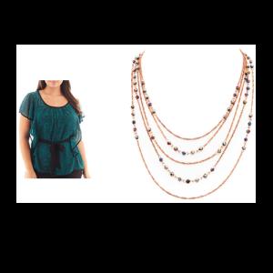 Flutter Sleeve Layer Necklace