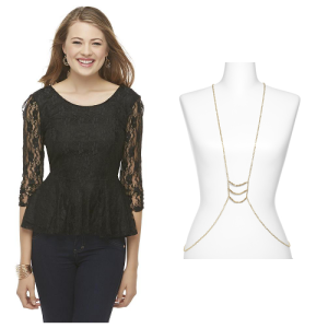 Lace Top Body Chain